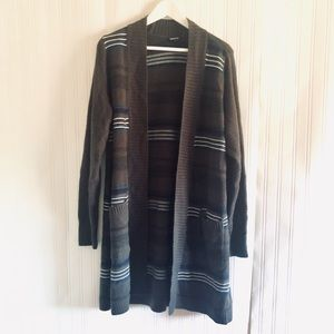 TORRID striped Open sweater with pockets size 2X